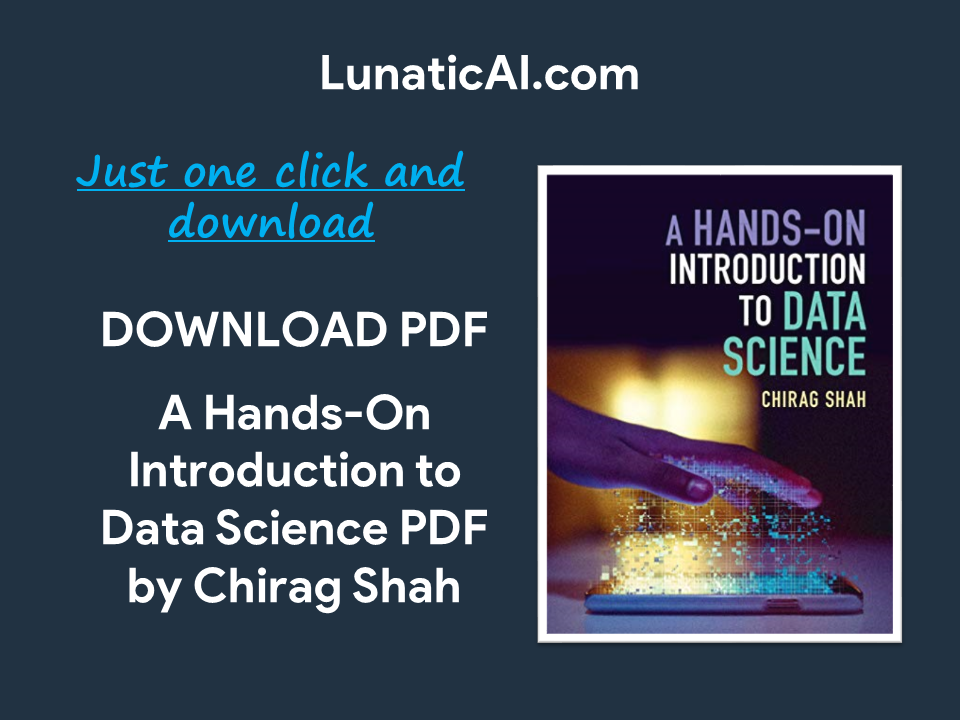A Hands-On Introduction to Data Science PDF Github