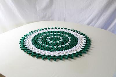 free pattern, crochet, doily, mandala, Irish, St.Patty's Day, St.Patrick's Day, lace, picot