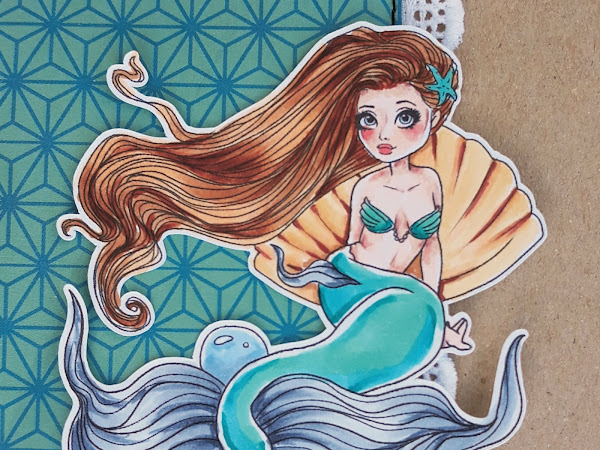 """Navigate Me! with the """"Mermaid pin up"""" stamp."""