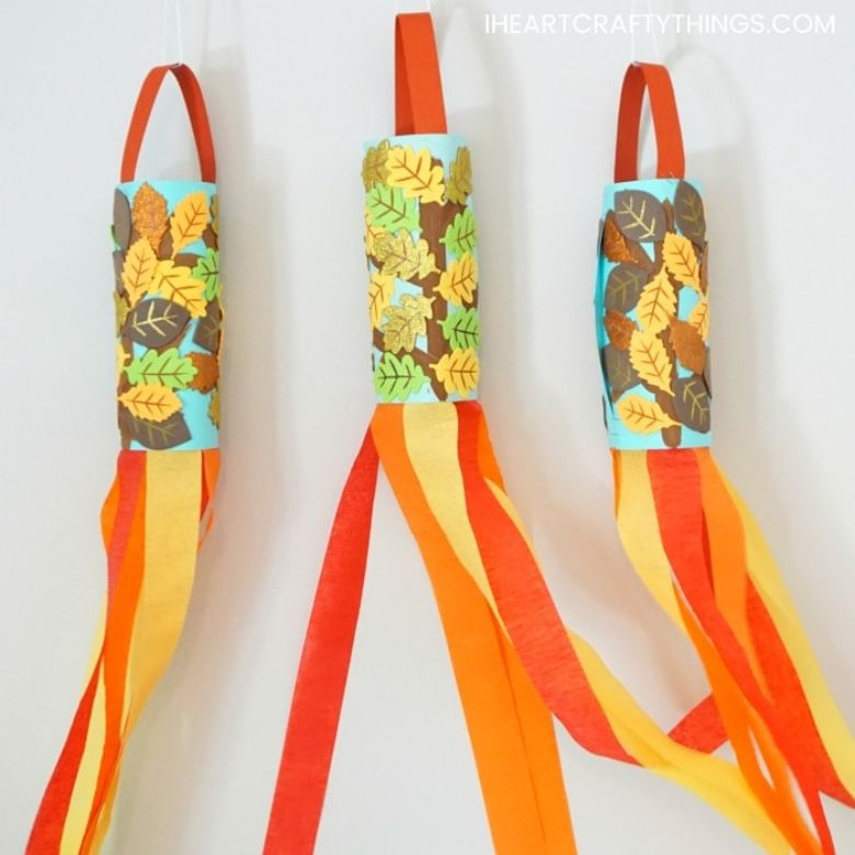 fall wind sock autumn craft for kids