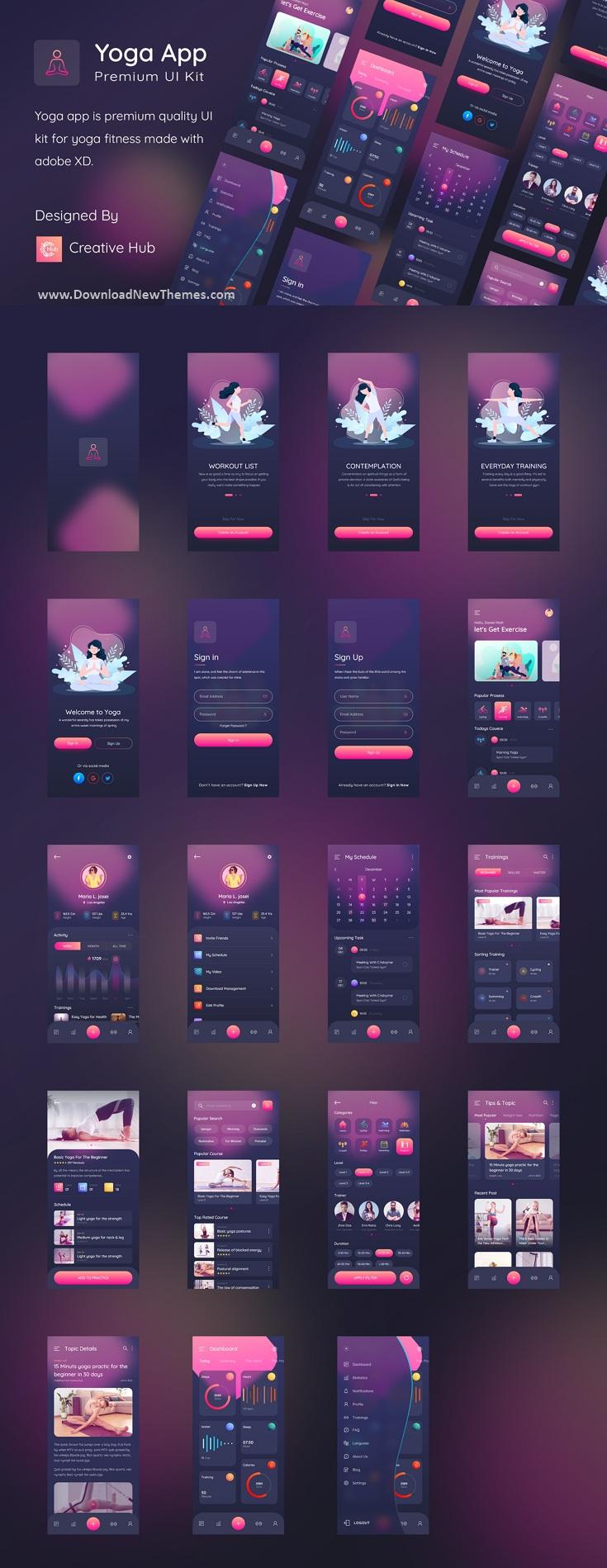 Yogaa App Premium UI Kit