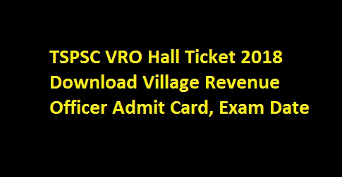 vro hall ticket download 2018 official