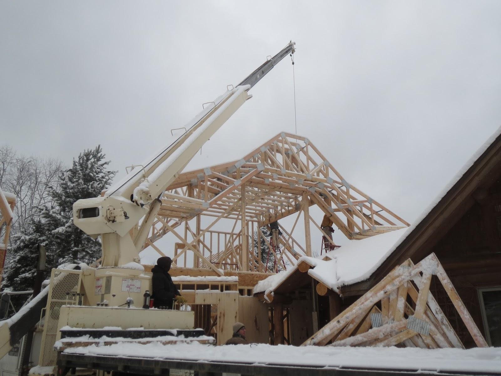 Crane Trusses Lake Home Ely Mn Huismanconcepts Com
