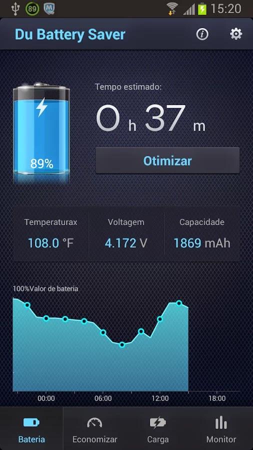 تطبيق يقوم بأدارة الهاتف و عمر البطارية DU Bateria Saver