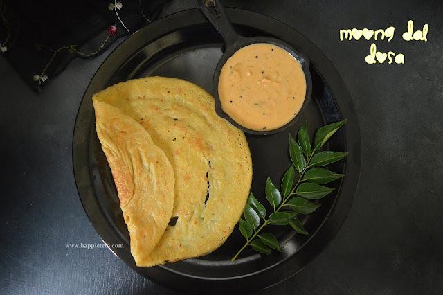 Moong Dal Dosa Recipe | Instant Moong Dal Dosa | Pasi Parupu Dosai
