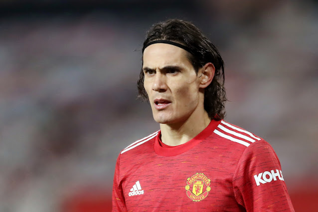 Manchester United forward Edison Cavani