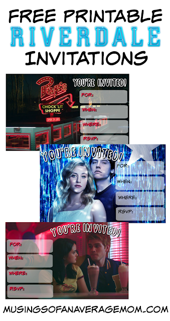 free printable Riverdale invitations