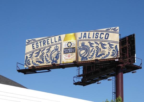 Estrella Jalisco Mexican beer billboard