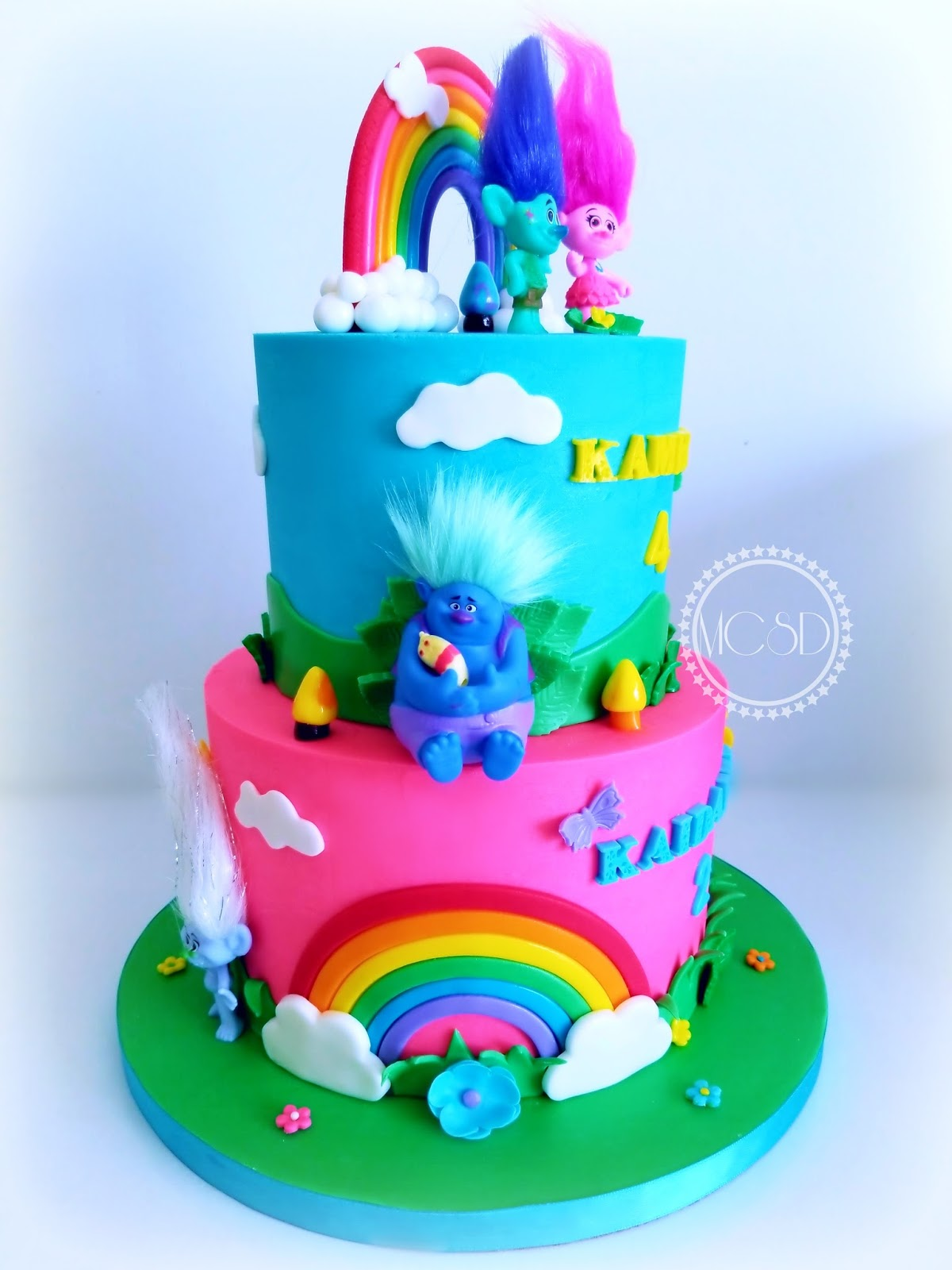 Mycakesweetdreams Trolls Cake