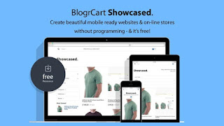 Blogcart showcased shopping cart blogger template
