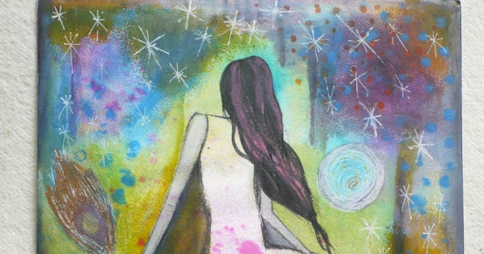 "Original Mixed Media Painting, Wall Art on Paper, Titled ""BEing"""