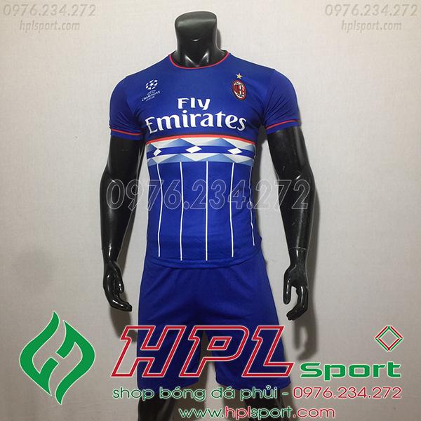 Áo CLB AC Milan training màu xanh 2020