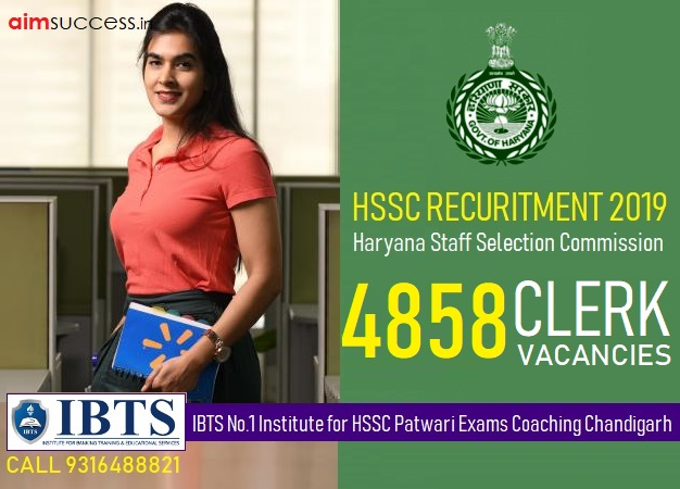 HSSC Clerk Recruitment 2019 Apply Online 4858 Clerk Job Vacancies