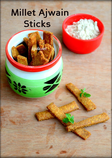 Millet Ajwain Sticks/Millet Omam Biscuit (No Baking)