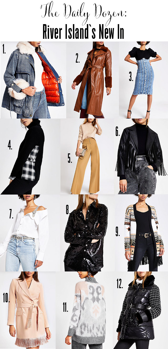 Twelve new items in from River Island
