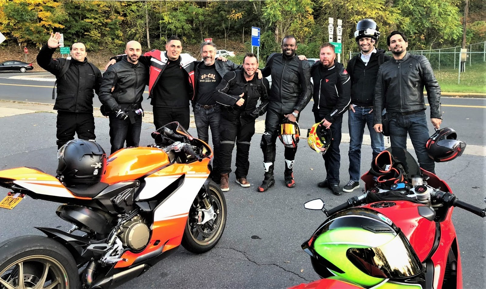 Gotham Ducati Desmo Owners Club motorcycle ride to Port Jervis New York