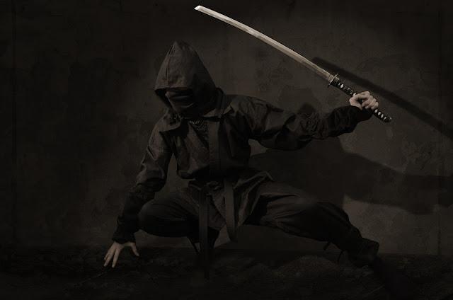 Ninja oculto en las sombras