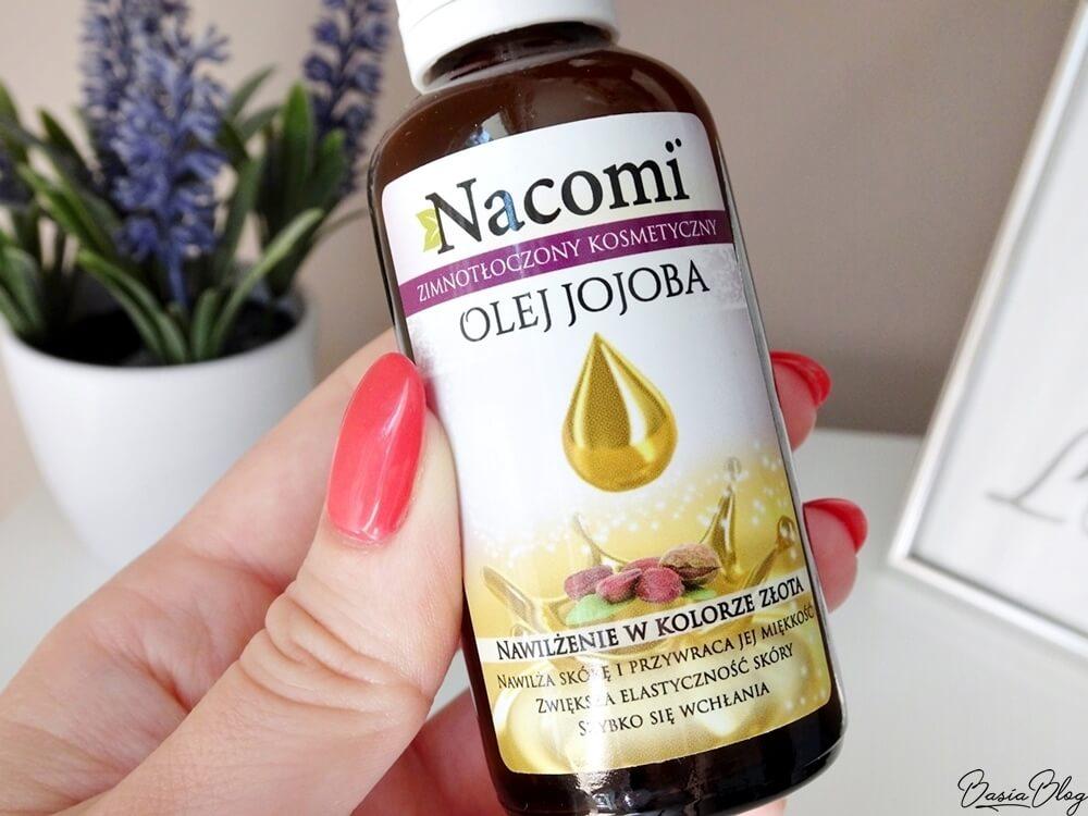Nacomi, olej jojoba, olej do cery mieszanej, olej jojoba zimnotłoczony nierafinowany, olej który nie zapycha, olej o niskiej komedogenności