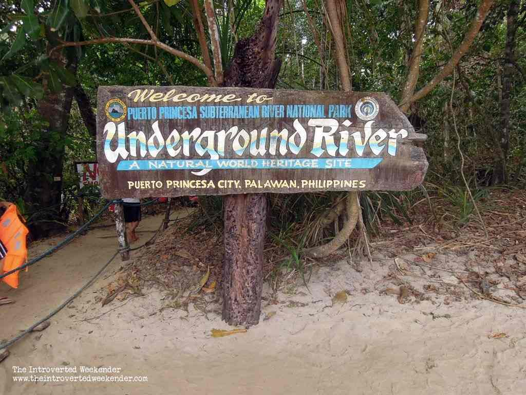 Marker going to the Puerto Princesa Underground River