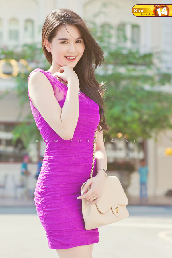 ngoc trinh sexy purple dress 03