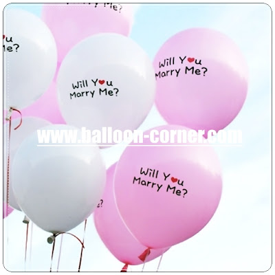 Balon Latex Printing WILL YOU MARRY ME