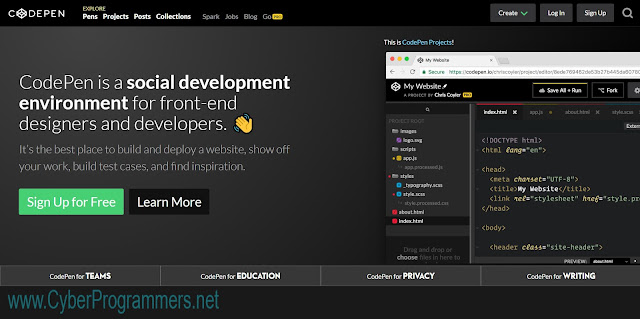 Code Pen. Online JS editor