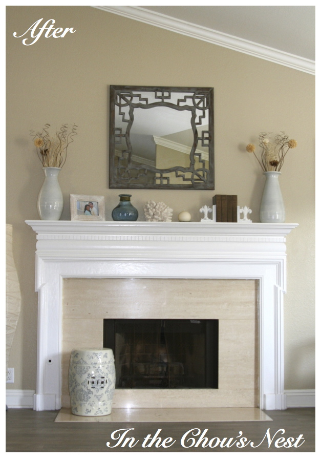 In the Chou's Nest: painted fireplace mantels...