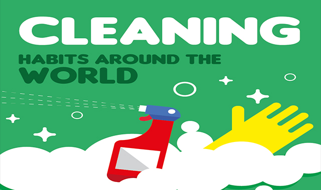 Cleaning Habits Around The World #infographic