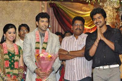 Vijay At Jayam Ravi Wedding Reception Photos 3