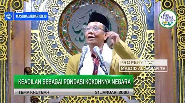 UAS Unggah Video Ceramah Mahfud MD soal Keadilan, Netizen: Dulu Sebelum Ikut Nganu