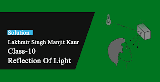 Solutions of Reflection of Light Lakhmir Singh Manjit Kaur VSAQ, SAQ, MCQ, HOTS, and LAQ Pg No. 199 Class 10 Physics