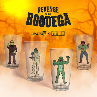 San Diego Comic-Con 2019 Exclusive Universal Monsters Pint Glasses by Super7