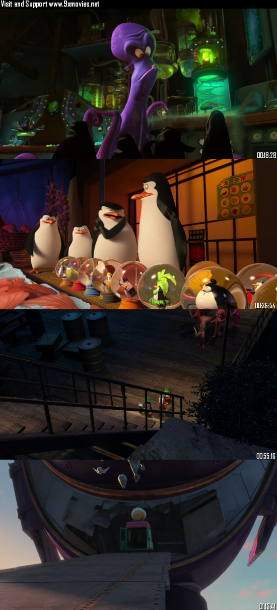 Penguins Of Madagascar 2014 Dual Audio Hindi 480p BluRay 300mb