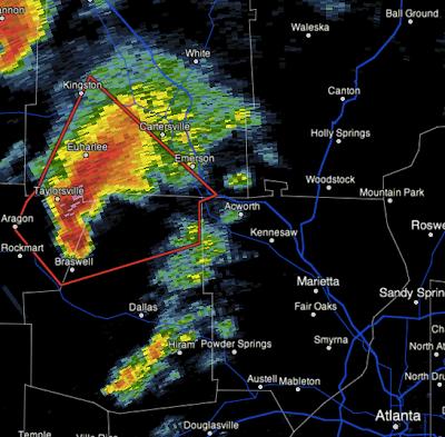 MSE Creative Consulting Blog: Tornado Warning West of Atlanta