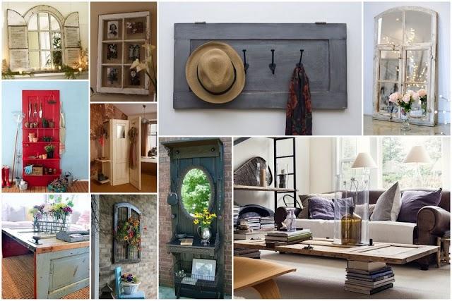 50+ Κατασκευές για το σπίτι από Παλιά Παράθυρα - Πόρτες