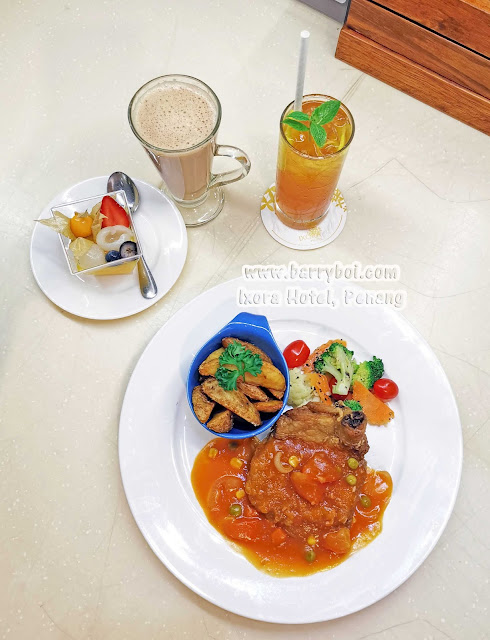 Hainanese Chicken Chop Delicious Set Menu at Ixora Hotel Penang Penang Blogger Influencer