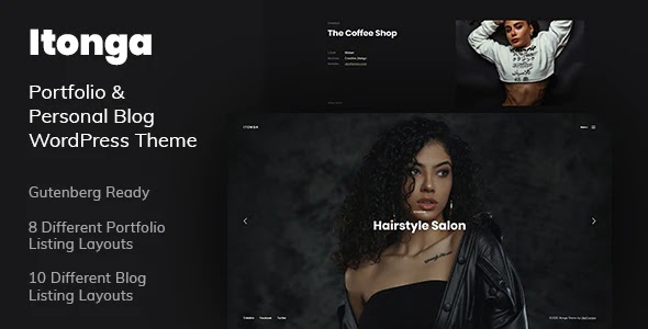 Portfolio & Personal Blog WordPress Template