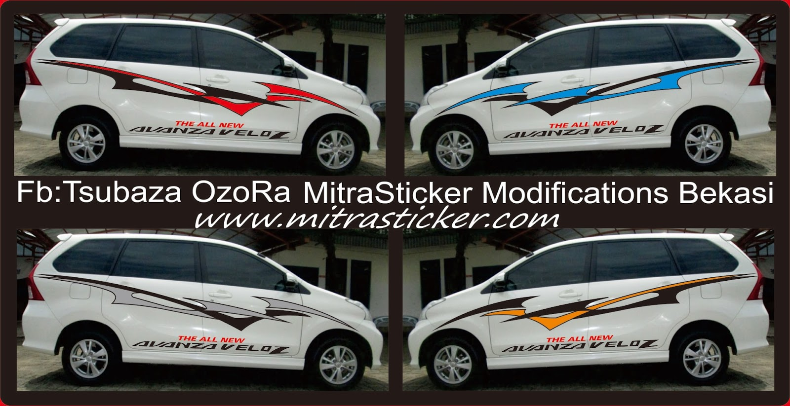 Cutting Sticker Grand New Avanza Grill Chrome Gambar Stiker Mobil Veloz Modifotto Murah Bekasi