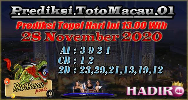 PREDIKSI TOTO MACAU01 28 NOVEMBER 2020