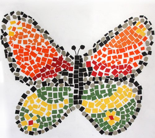 Mosaic Craft For Kids Origami Instructions Art And Craft Ideas