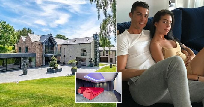 Pictures: All round view of Cristiano Ronaldo's incredible mansion in Manchester revealed