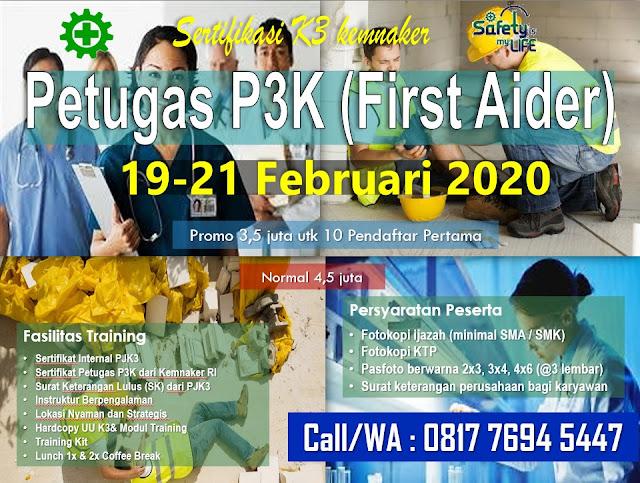 Petugas P3K murah tgl. 19-21 Februari 2020 di Jakarta