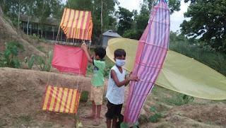 টাঙ্গাইলের মধুপুরে ঘুড়ি উড়ানোর প্রতিযোগিতা অনুষ্ঠিত
