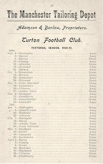 Turton Football Club - Fixtures 1909