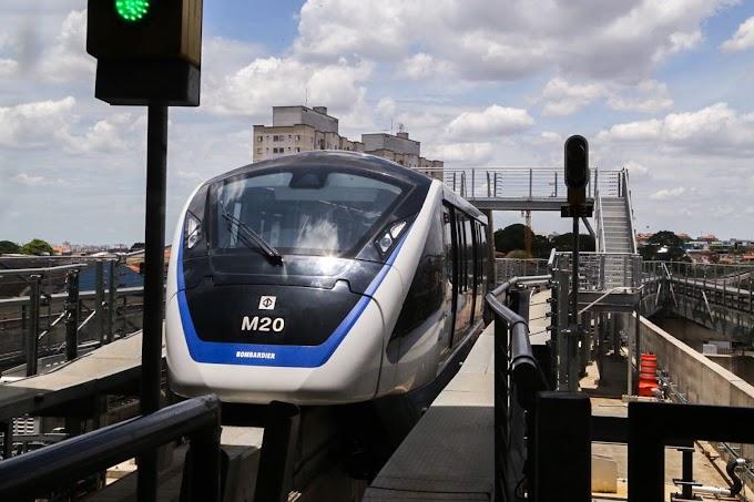 FIQUE ATENTO: Testes alteram horário de funcionamento da Linha 15-Prata do Monotrilho neste final de semana