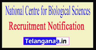 National Centre for Biological Sciences NCBS Recruitment Notification 2017