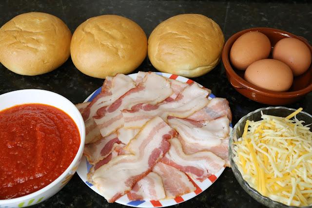 Ingredientes para huevos en nido