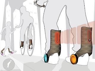 Zapatos Motorizados para los que no quieren Caminar