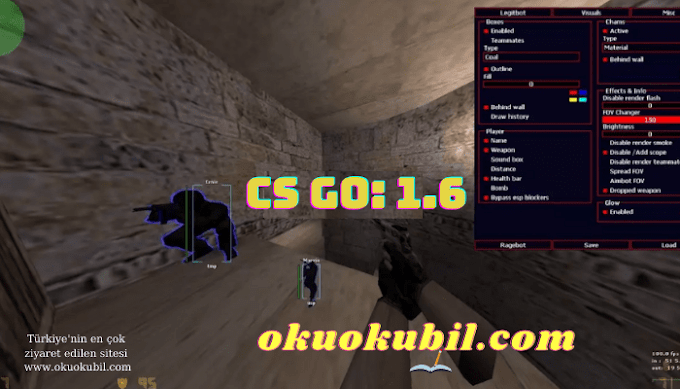 CS 1.6 Hızlı Bıçak, Harita ESP Ragebot, Multihack, Dopamine, Legitbot