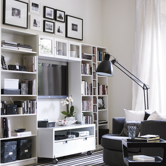 Living Room Designs For Small Spaces: New Home Interior Design: Storage Solutions For Small Spaces